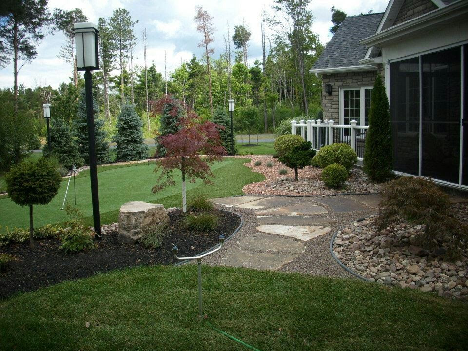 Landscaping ideas backyard golf course home office ideas for Golf course home designs