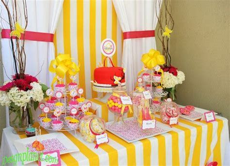 pink and yellow Bridal shower design   Home Decorations