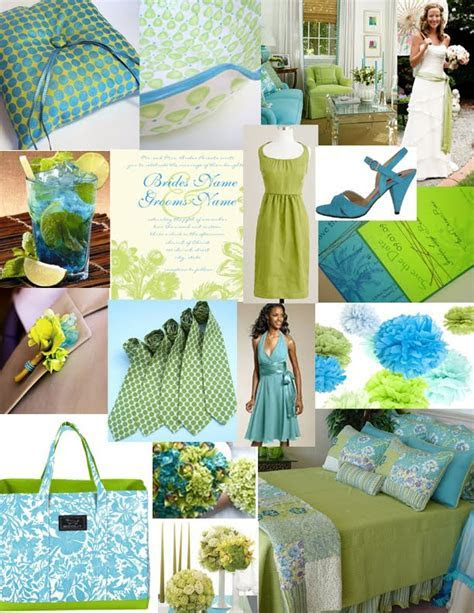 Fashion: A Lime Green and Turquoise Wedding
