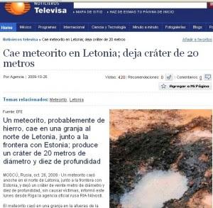 Noticias del falso meteorito (1)