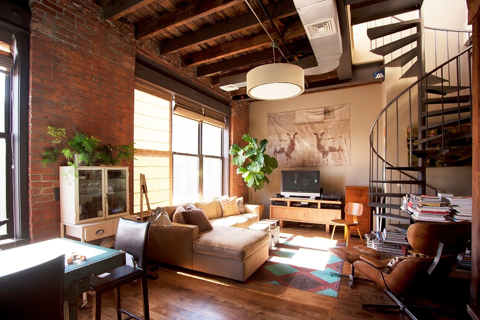 Decordemon industrial loft in brooklyn for Amenagement restaurant interieur