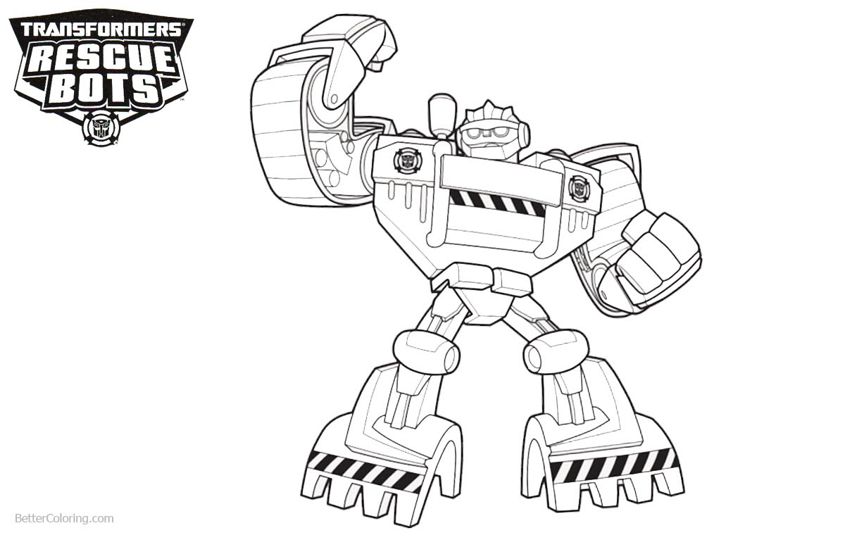 Transformers Rescue Bots Coloring Pages Clipart Auto Electrical