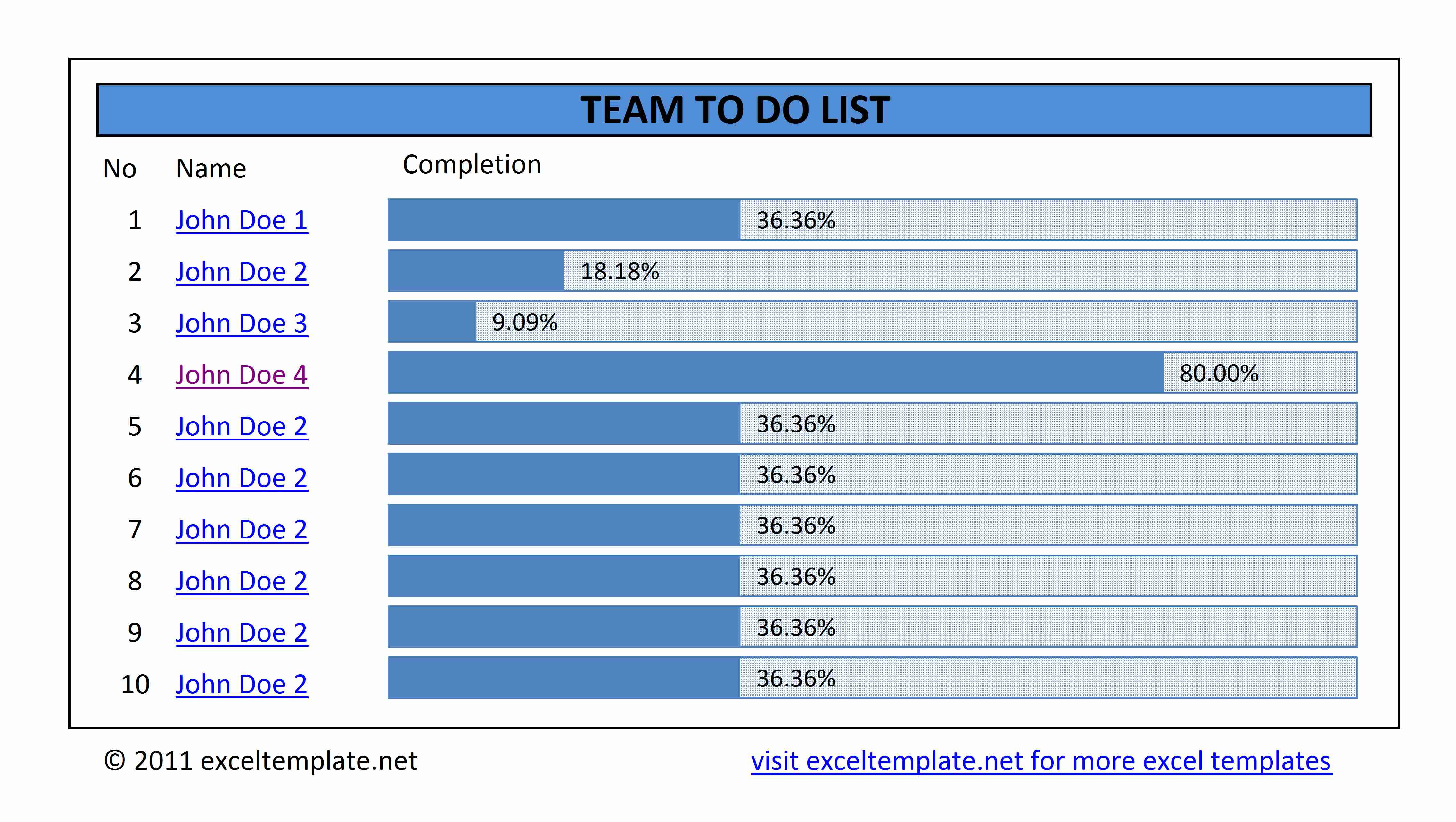 Simple To Do List   Excel Templates