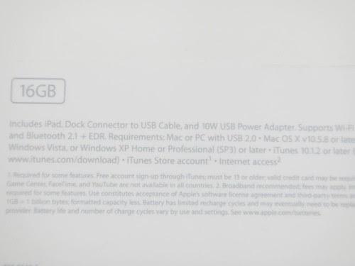 16G Wifi 版 iPad 2