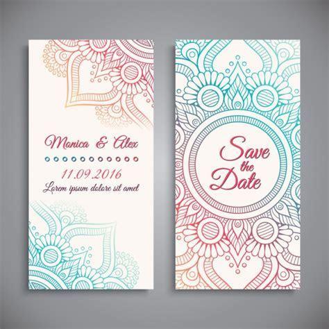 Wedding invitation design Vector   Free Download