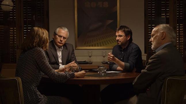 Évole, en el debate de 'Salvados', con Baltasar Garzón, JoséMaría Menay Lorena Ruiz-Huerta.