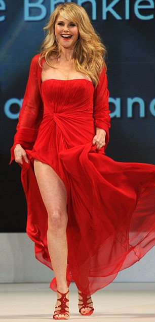 Red hot: The star wore a Pamella Roland design