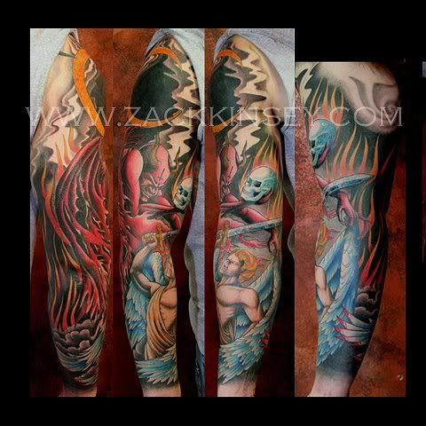Heaven And Hell Tattoo Sleeve Ideas