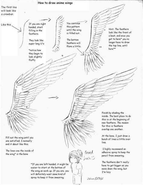 anime drawing tutorial  wings drawing anime
