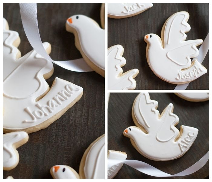 confirmation cookies : full step-by-step decorating tutorial from bakeat350.blogspot.com
