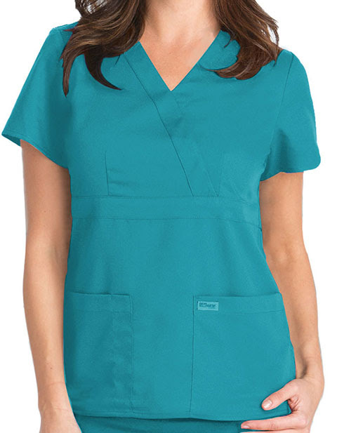 Buy Grey's Anatomy Junior Fit Mock Wrap Nurse Scrub Top for $26.50