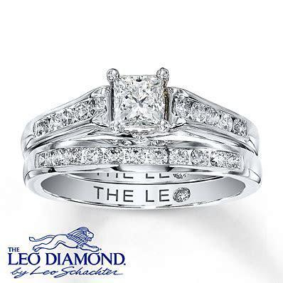kay jewelers diamond bridal set 1 ct tw princess cut 14k