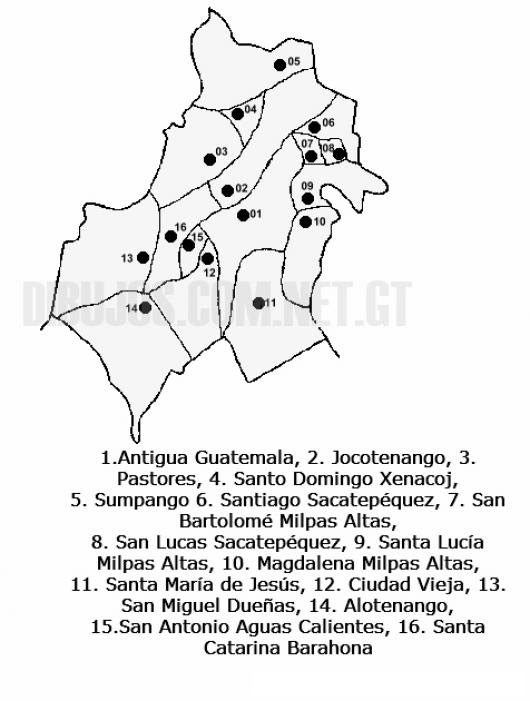 Colorear Mapa Del Departamento De Sacatepequez Lamina Del
