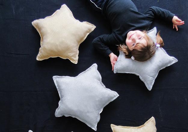 12. Подушки в виде звёзд дети, поделки, своими руками, сделай сам, творчество