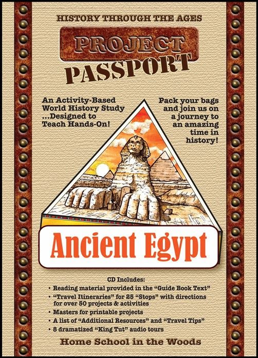 Home School in the Woods, Project Passport Study: Ancient Egypt #hsreviews