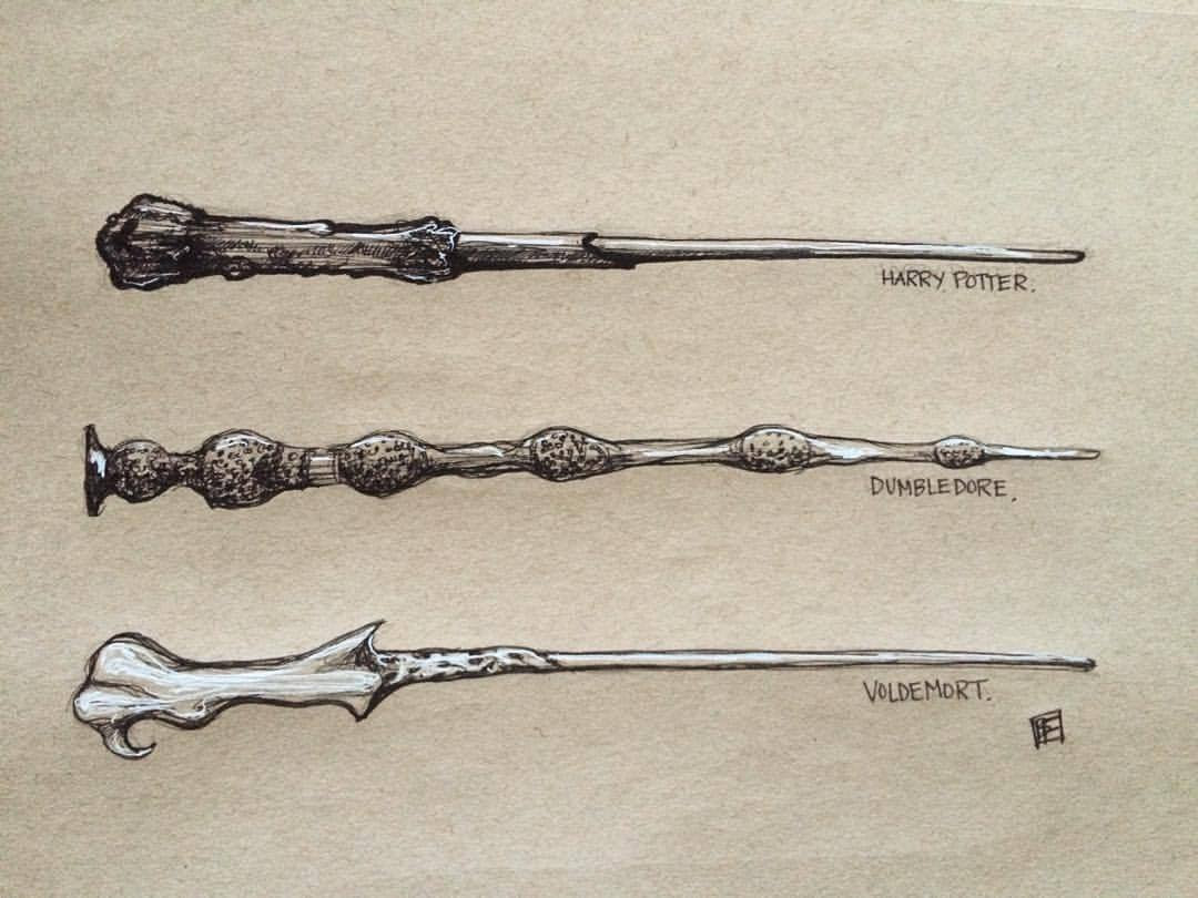 Harry Potter Wand Drawing At Getdrawingscom Free For Personal Use