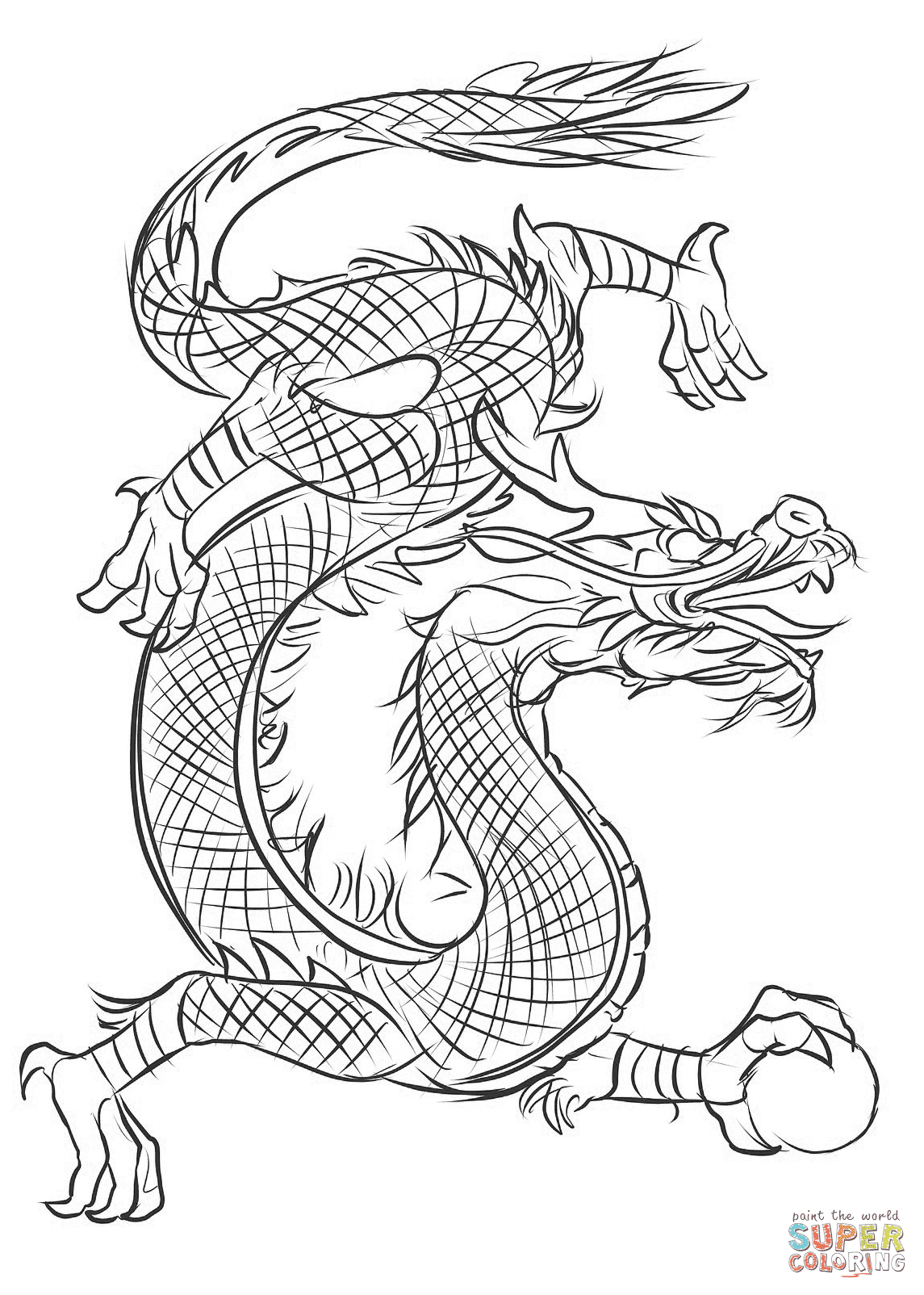 Asian Dragon coloring page | Free Printable Coloring Pages