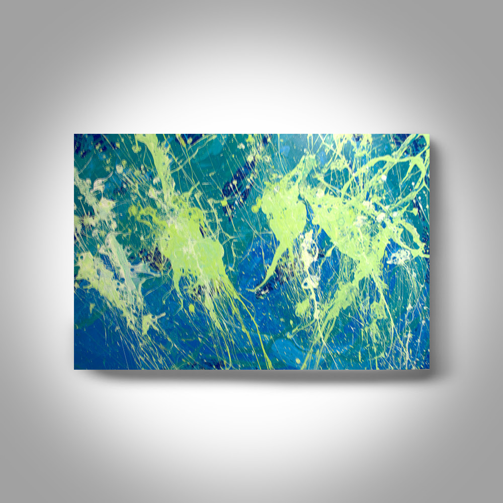 Acrylic Abstract Painting 36 X 24 Canvas Painting Wall Painting Home Decor Art By Brian Hill First Green Large Acrylic Paintings