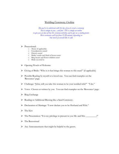 Wedding Ceremony Outline   Wedding ideas :)   Wedding
