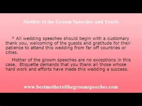 wedding speeches  mother   groom wedding speech