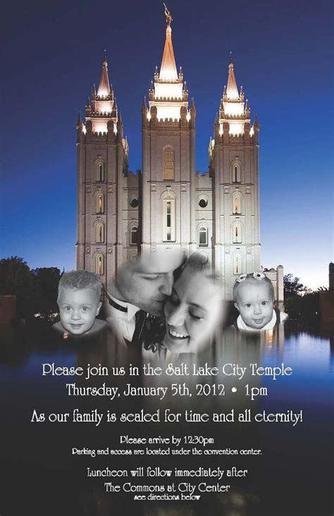 Temple Wedding or Family Sealing Invitation   Sealing
