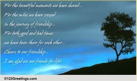 Cheers To Our Friendship! Free Thoughts eCards, Greeting