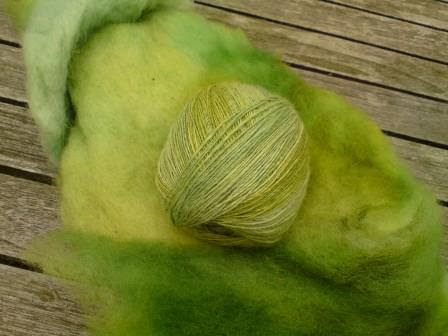 Rau-grün-Häkelkorb 2