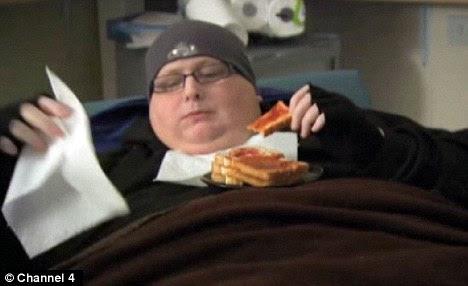Binging: Paul Mason was eating 20,000 calories a day at his heaviest