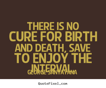 Quotes About Life There Is No Cure For Birth And Death Save To