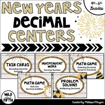 New Years Decimal Centers Grades 4-6