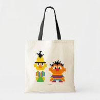 Bert and Ernie Pixel Art Tote Bag