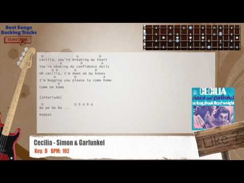 Best Songs Backing Tracks Bsbt Cecilia Simon Garfunkel Bass