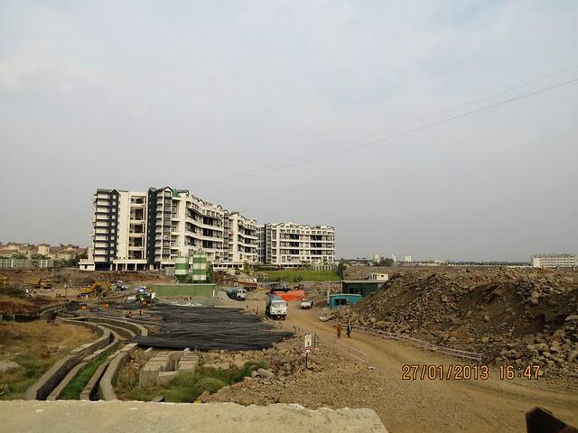 Site of Trinity Towers & Gera's GreensVille SkyVillas Kharadi Pune