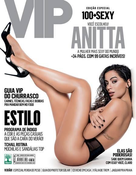 Anitta exibe os pernões na capa da revista