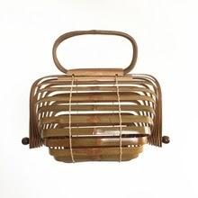 Bamboo Handbags for Women Brands Designer Travel Tote Bag