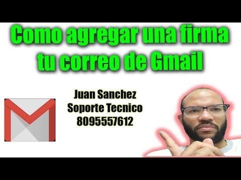 Agrega tu firma a tu correo de Gmail