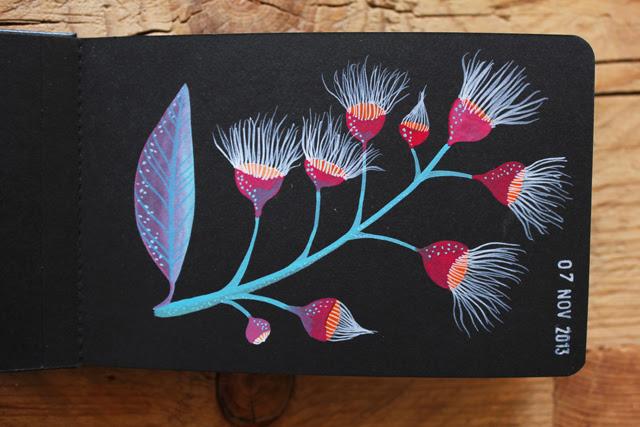 Eucalyptus 'on black'