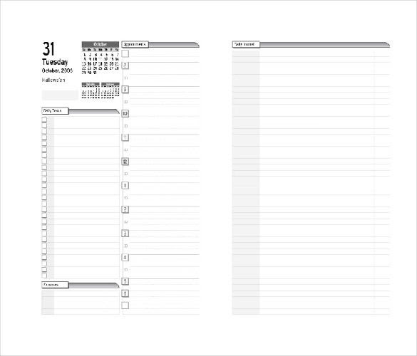 8+ Free Daily Planner Templates in Microsoft Word Download   Free ...