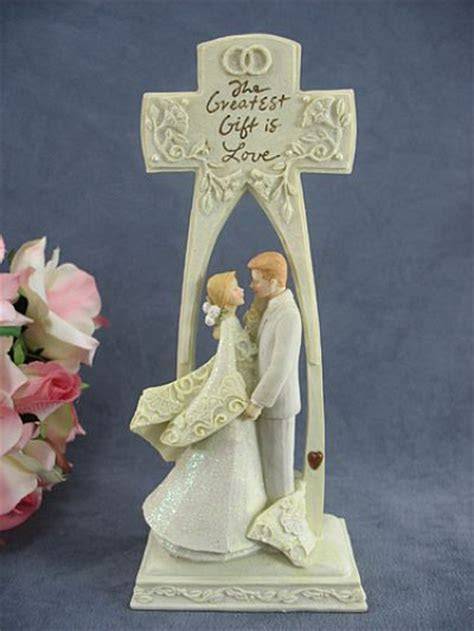 "Foundations ""The Greatest Gift is Love"" Cross Wedding Cake"