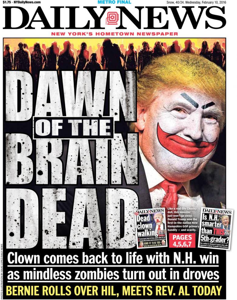 NY Daily News Front Page Is Brutal To Donald Trump | Crooks and Liars