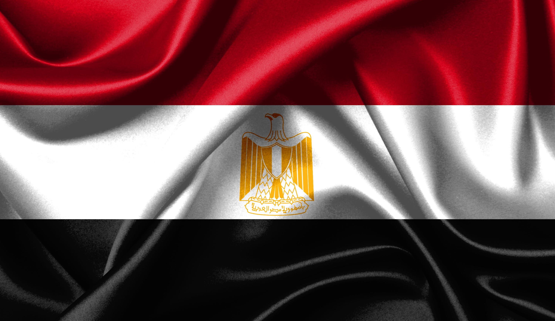 large size egyptian flag waving