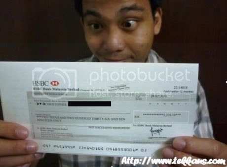 My RM2236.19 ChurpChurp Cheque Has Arrived,Make Money With Twitter