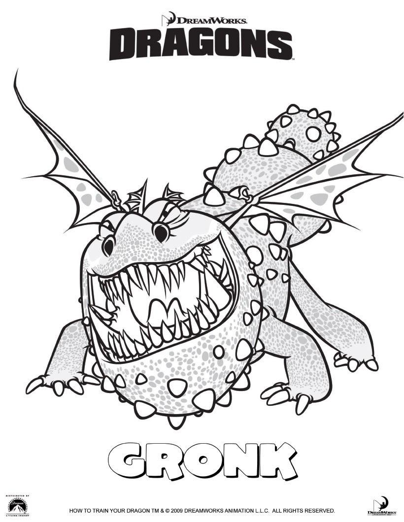 coloriage gronk le dragon kub