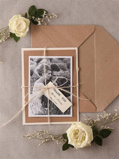 Wedding Thank You Card , Rustic Thank You Cards