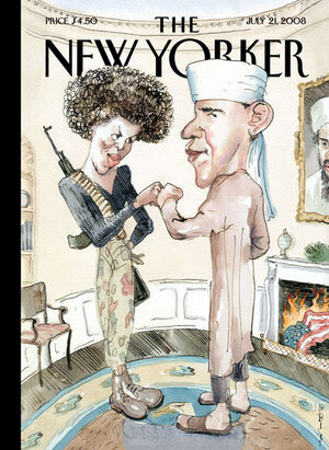 """Barry Blitt's controversial """"Politics of Fear"""" ran on the cover of The New Yorker in July 2008. """"It was obviously taking a chance,"""" Blitt says."""