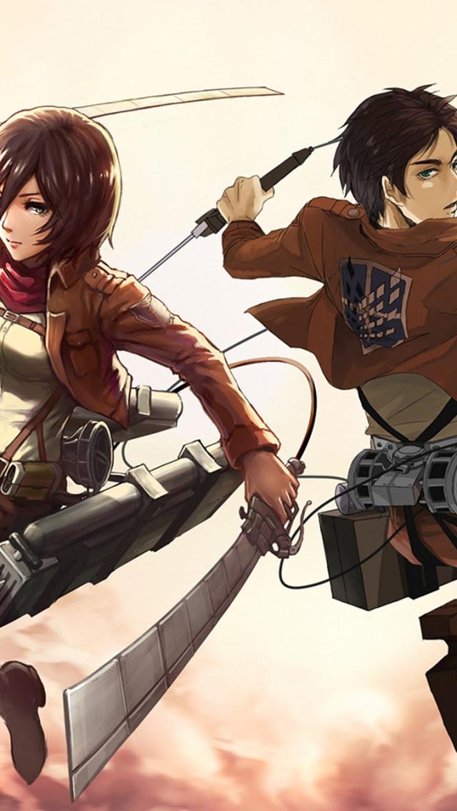 Mikasa And Eren Wallpaper 24555 Baltana