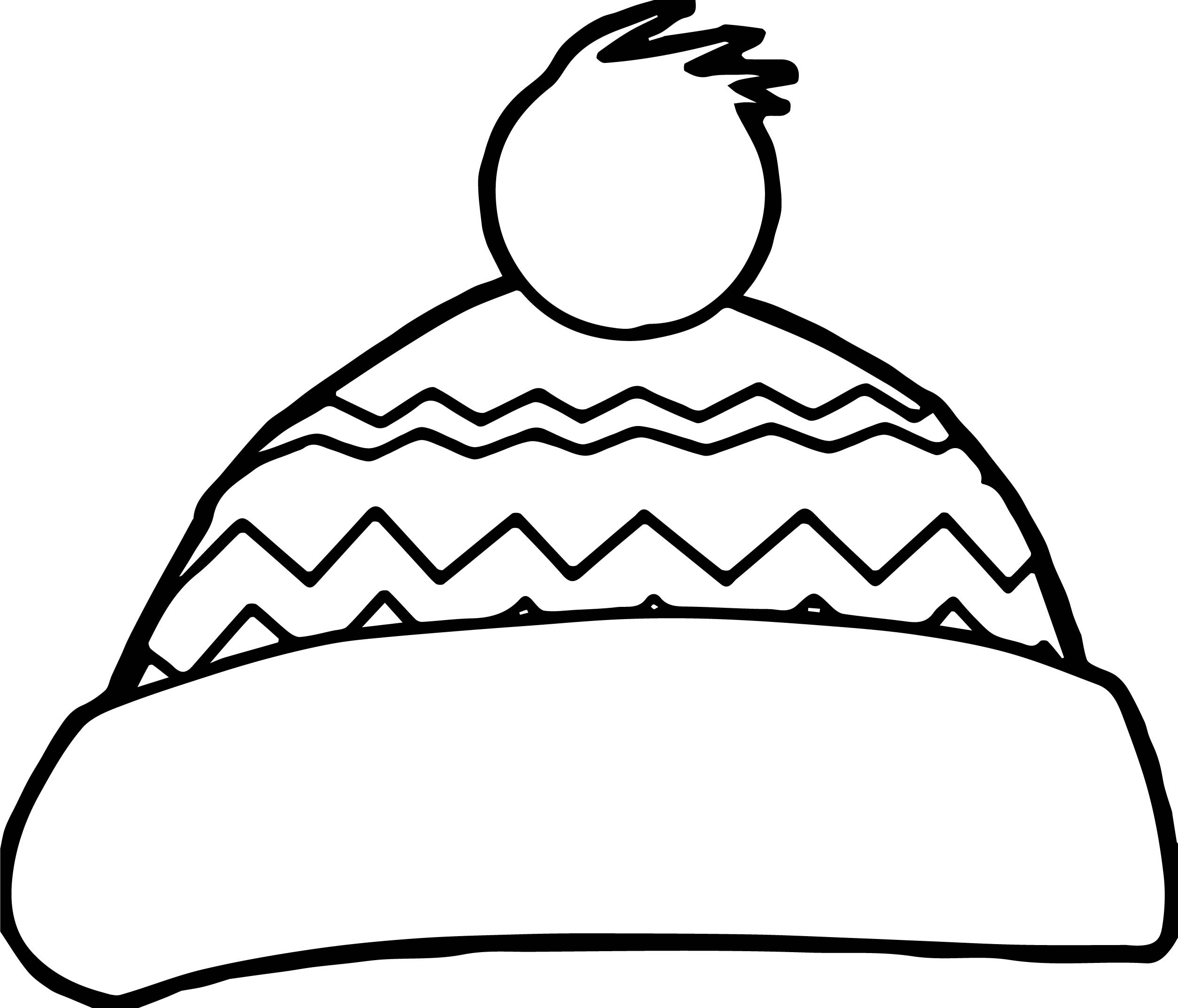 Winter Hat Coloring Page Preschool Winter Fun Pinterest Crafts Paper And Coloring Pages