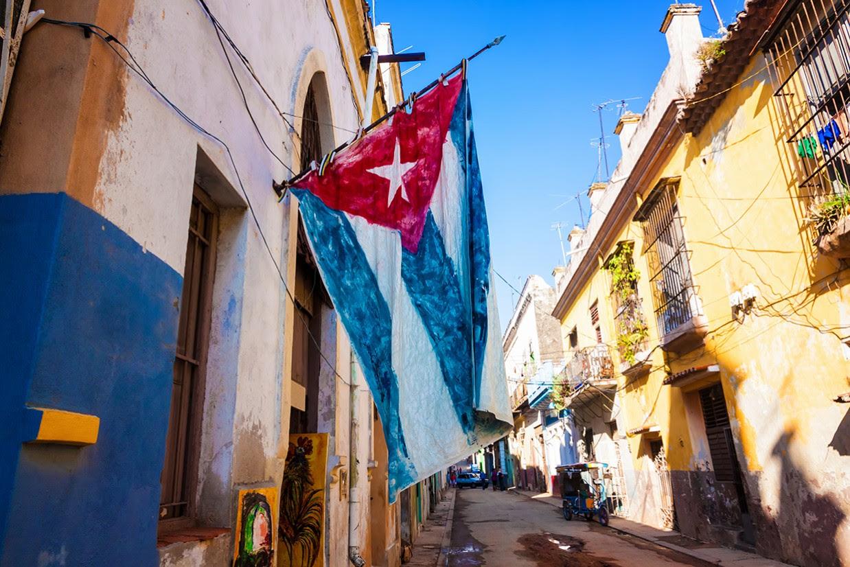 Old Havana Street Cuban Flag_News