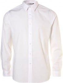 Topman White Smart Long Sleeve Shirt