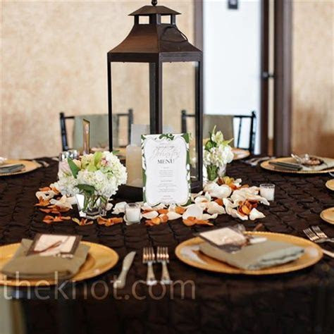 Lanterns, Rose petals and Centerpieces on Pinterest